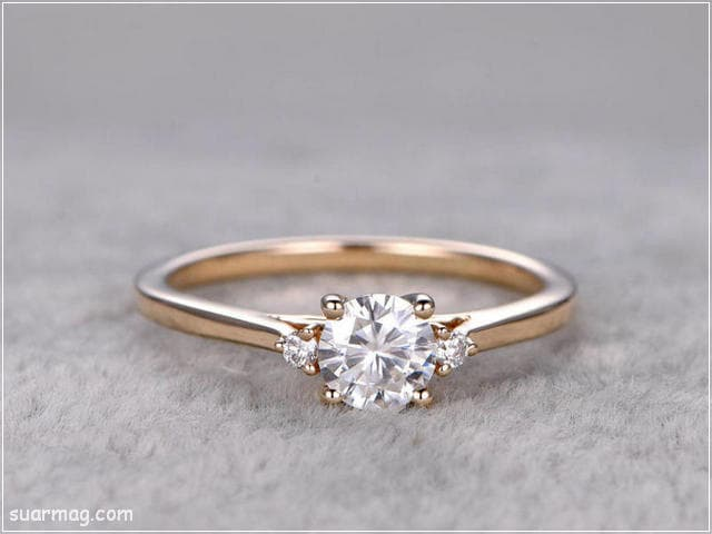 اشكال محابس ذهب 15   Gold Engagement Rings Forms 15