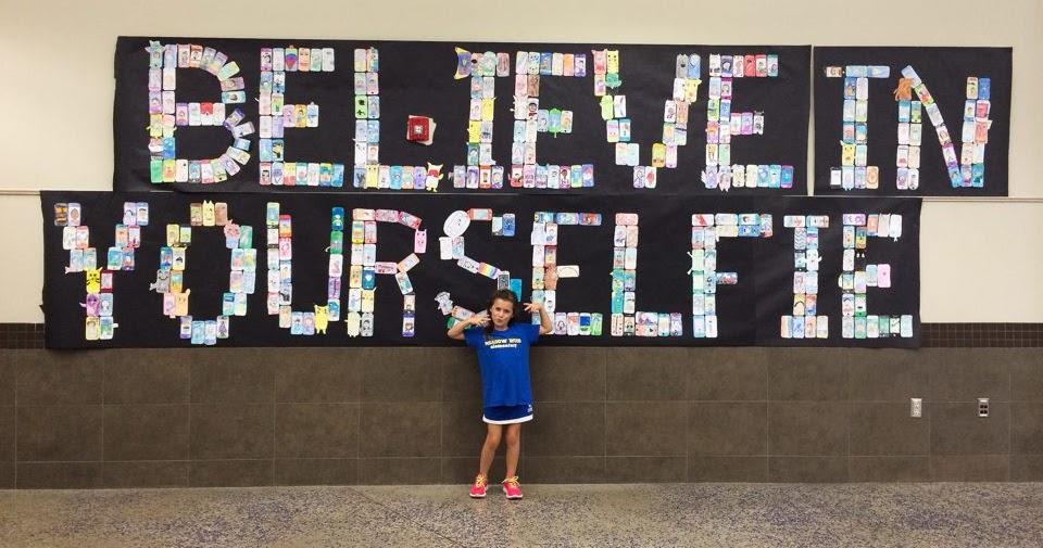 smart class  back to school all school selfie mural