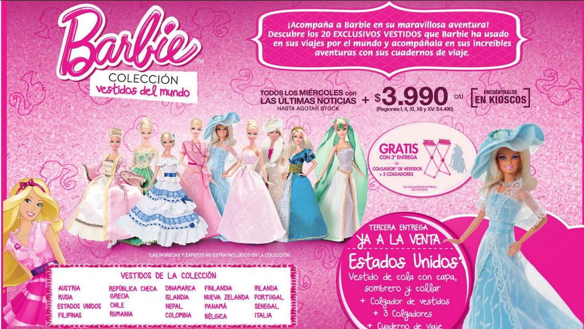 que bonito Yohanita!: Barbie, Colección Vestidos del Mundo: EE.UU