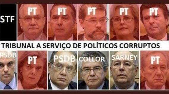 A ditadura da toga do STF todo indicado por ex Presidentes da esquerda corrupta  governa o país rumo ao caos (Blog Celso Rodrigo Branicio)