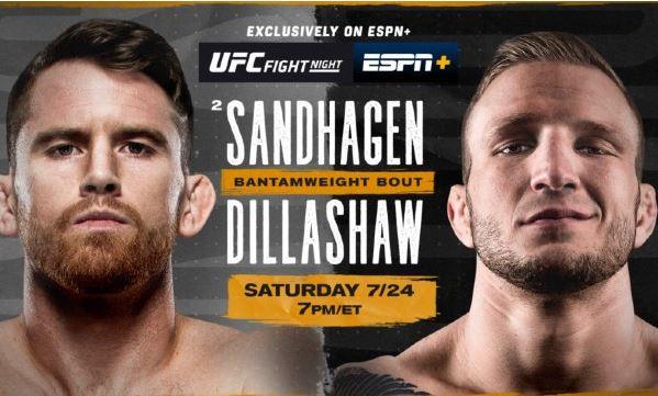 Watch UFC Fight Night Sandhagen vs Dillashaw 7/24/2021 Live Stream and Replay