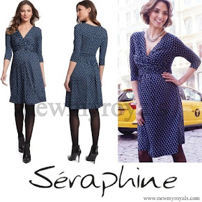 Princess Victoria Wore Seraphine Bubble Print Maternity Dress