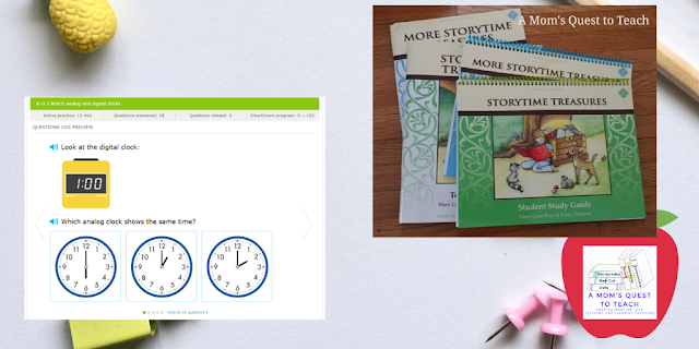 IXL web page and StoryTime books