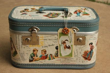 Decoupage Vintage Suitcase | Luggage And Suitcases