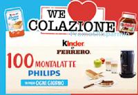 Logo Con Kinder e Ferrero vinci 100 Montalatte Philips al giorno : 2400 premi in tutto