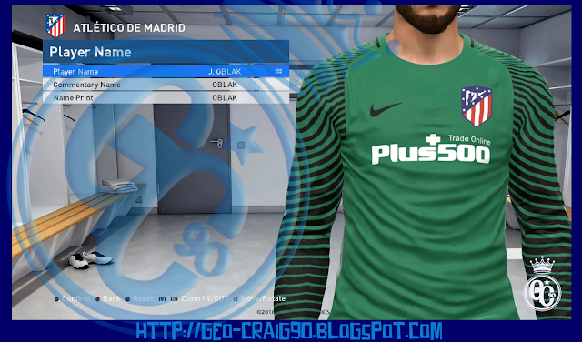 PES 2017 Atletico Madrid Kit With New Logo HD 2016-17 by Geo_Craig90