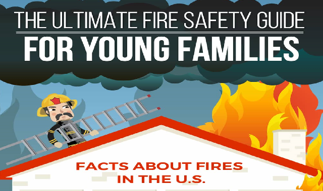 The Ultimate Fire Safety Guide For Young Families #infographic