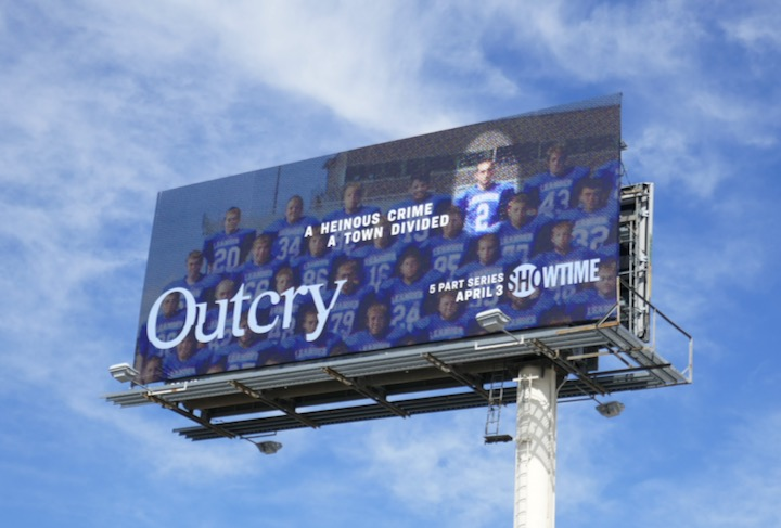 Outcry series launch billboard