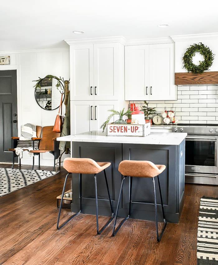 Vintage modern Christmas kitchen