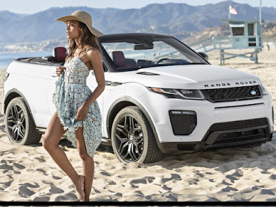 Range Rover Evoque with girl image Hd