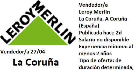 Lanzadera de Empleo Virtual, A Coruña Oferta Leroy Merlin