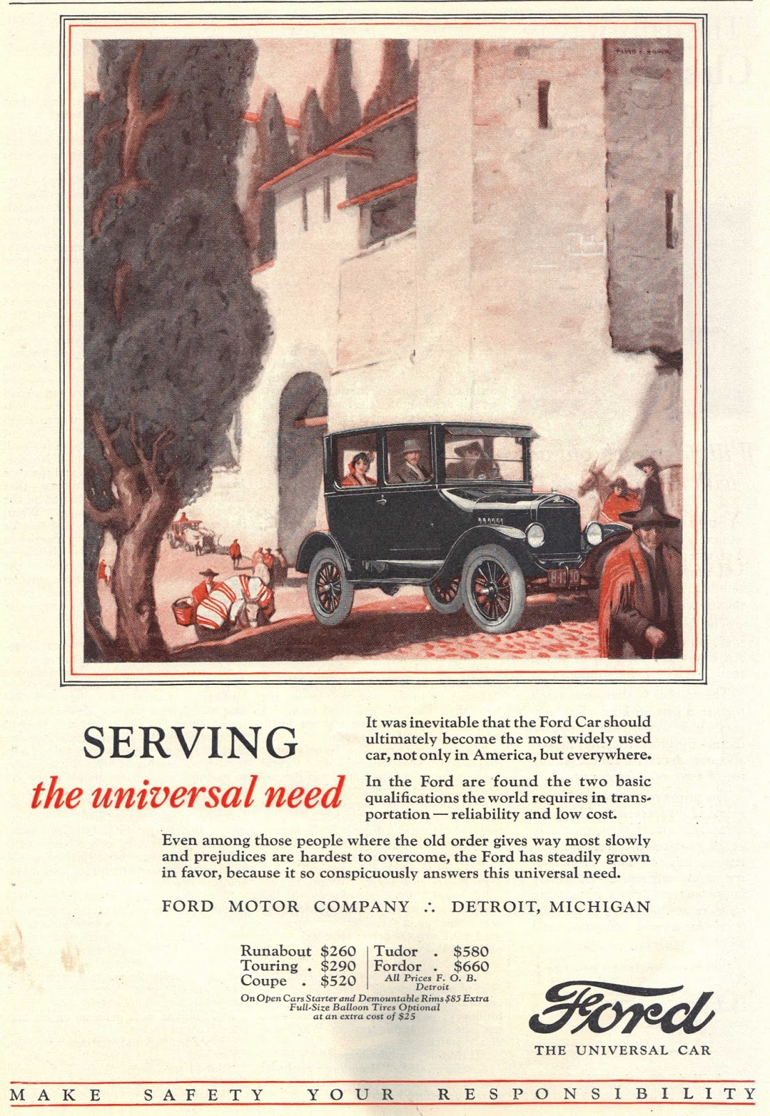 Ford for 1925. Still the Model T ...