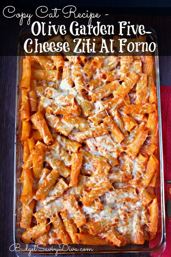 COPY CAT RECIPE – OLIVE GARDEN FIVE-CHEESE ZITI AL FORNO #recipes #dinnerrecipes #goodfastrecipes #goodfastrecipesfordinner #food #foodporn #healthy #yummy #instafood #foodie #delicious #dinner #breakfast #dessert #lunch #vegan #cake #eatclean #homemade #diet #healthyfood #cleaneating #foodstagram