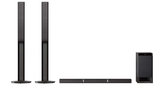 Sony HT-RT40 Real 5.1ch Dolby Audio Soundbar Home Theatre System with Tall boy Speakers(600W, Dolby Audio, Bluetooth Connectivity), Black