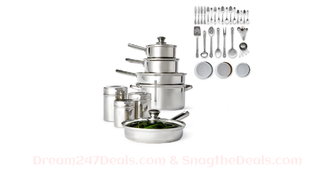 JCPENNY Cooks 52-PC. Stainless Steel Cookware Set
