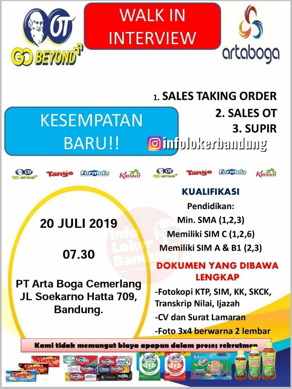 Walk In Interview PT. Arta Boga Cemerlang 20 & 22 Juli 2019