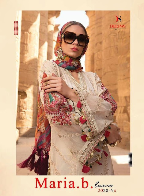 Deepsy maria b lawn 2020 nx pakistani suits