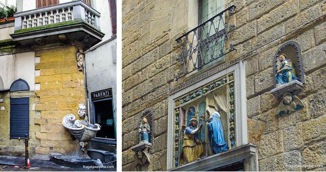 Florença: a Fontana dello Sprone e a Torre dei Marsili, em Oltrarno