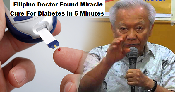 Doctor found a cure for diabetes is just 5 minutes