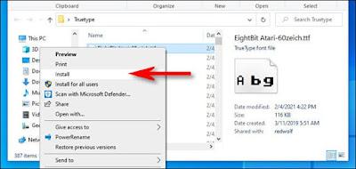 Cara Install dan Uninstall Font di Windows 10