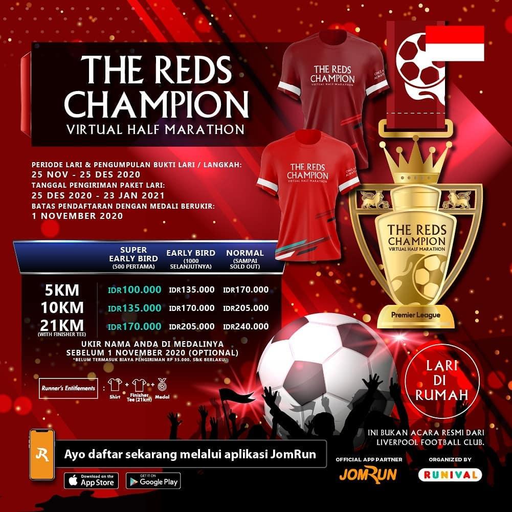 The Reds Champion Virtual Half Marathon • 2020