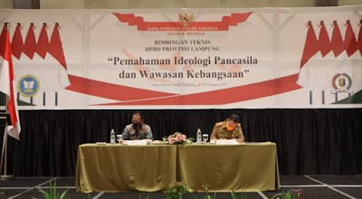 Sekdaprov Lampung Hadiri Bimtek Pembinaan Ideologi Pancasila
