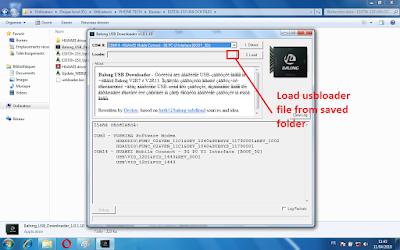 select and load usbloader bin file