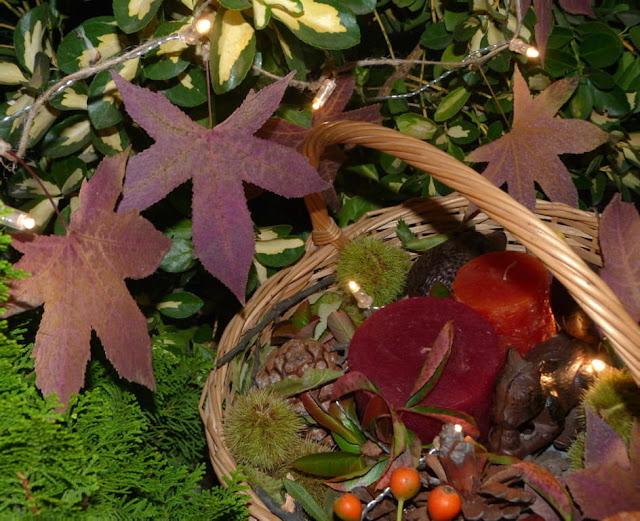 cesto-otoño-guirnalda-luces