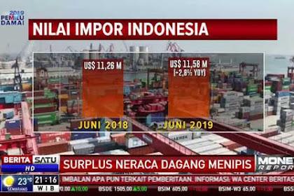 Kacau! Neraca Dagang Semester I-2019 Terparah di Era Jokowi
