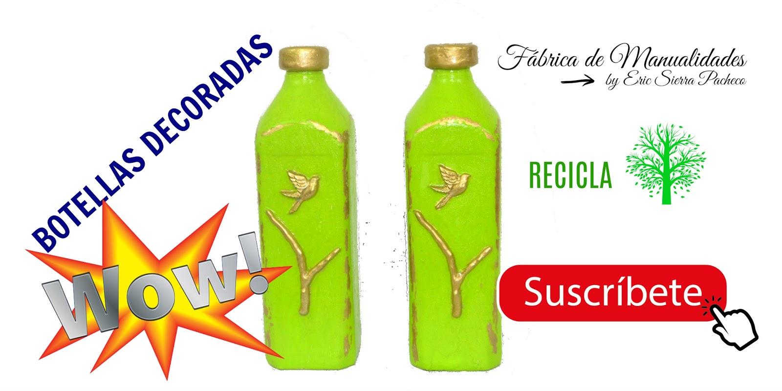Fábrica De Manualidades Botellas De Vidrio Decoradas