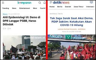 Ahli Epidemiologi UI Dintantang Balik, Berani Laporkan Demo PDIP yang Langgar PSBB ?