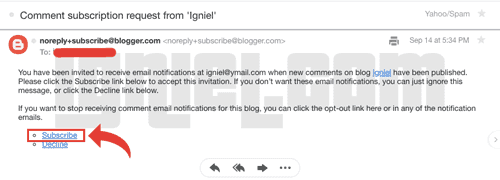 Cara Membuat Push Notification Komentar Blogger ke Email