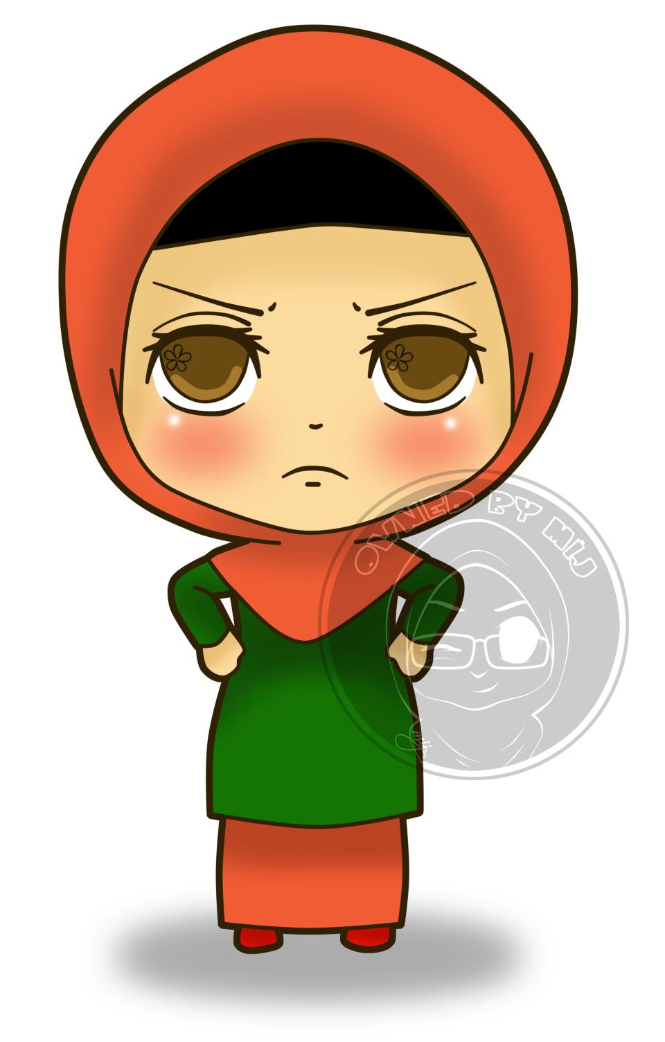 Gambar Kartun Muslimah Marah Gambar Kartun