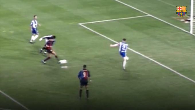 Rivaldo và cú hat-trick toàn siêu phẩm cho Barcelona