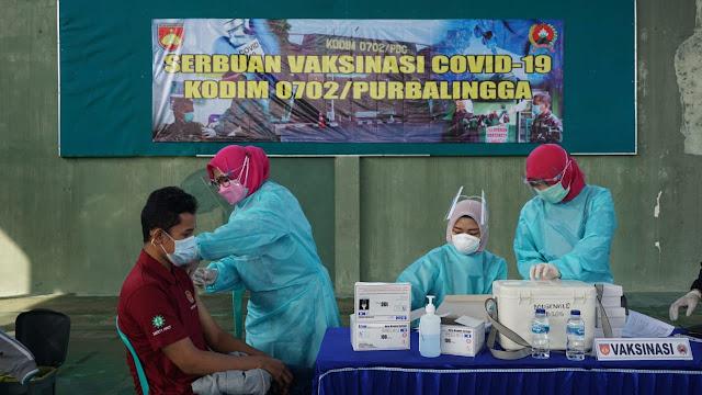Pendistribusian Vaksinasi Kodim Purbalingga Secara Bertahap