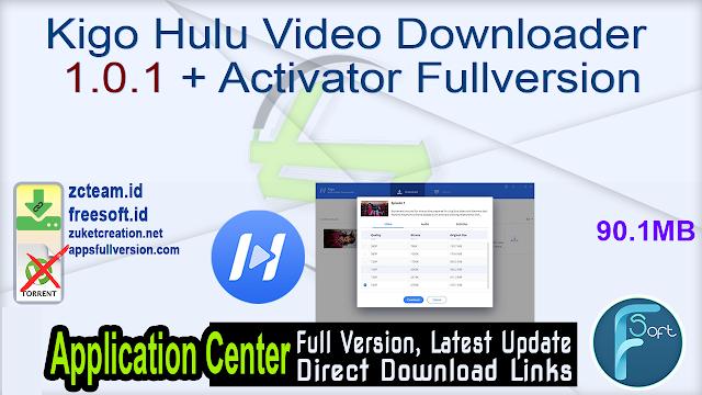 Kigo Hulu Video Downloader 1.0.1 + Activator Fullversion