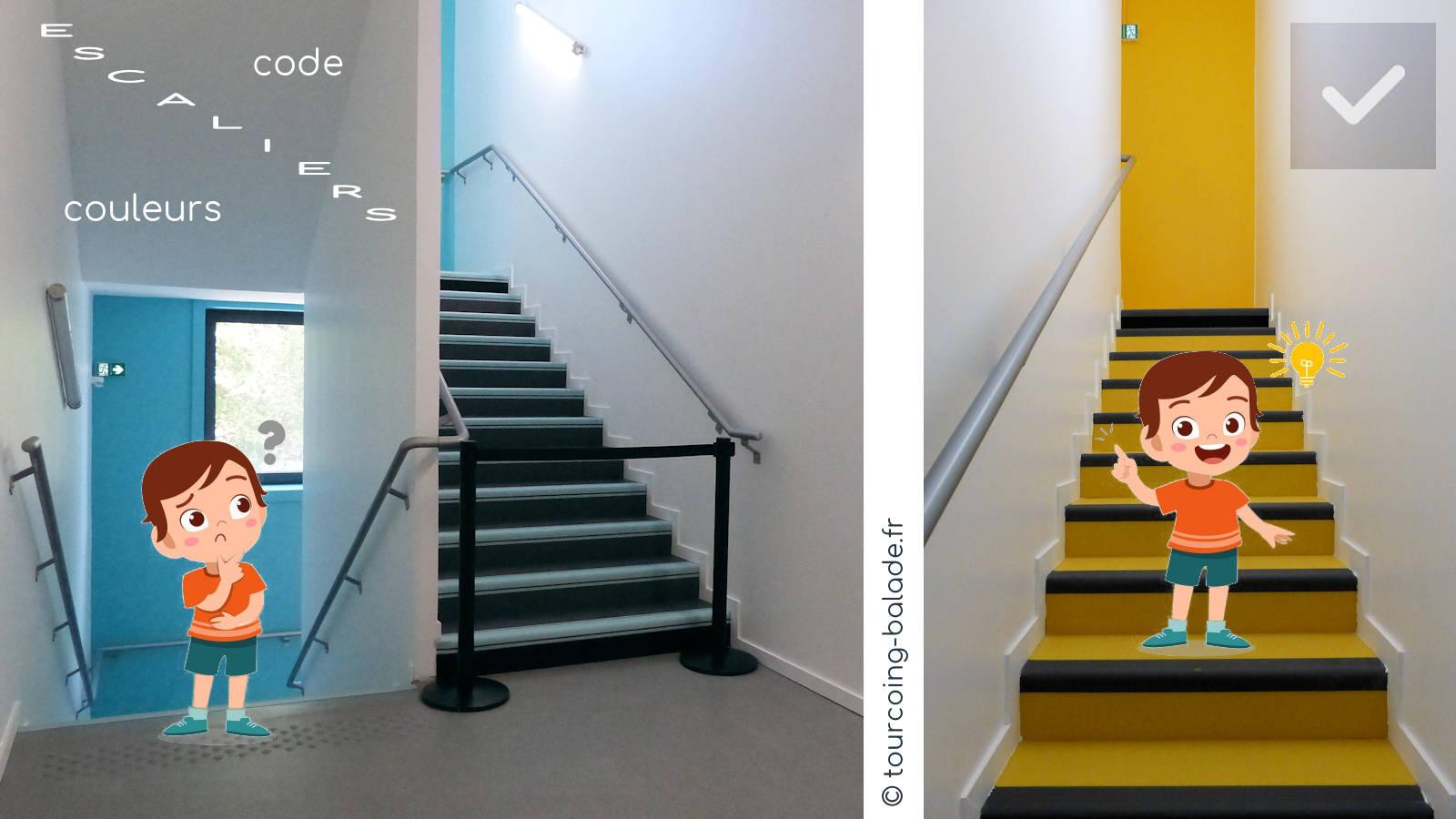 École Charles de Gaulle, Tourcoing - Escaliers