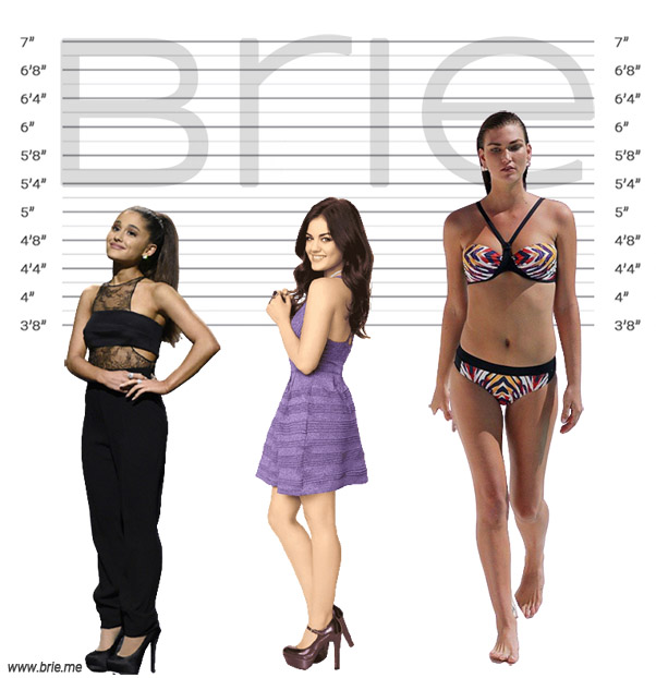 Lucy Hale height comparison with Ariana Grande and Karlie Kloss