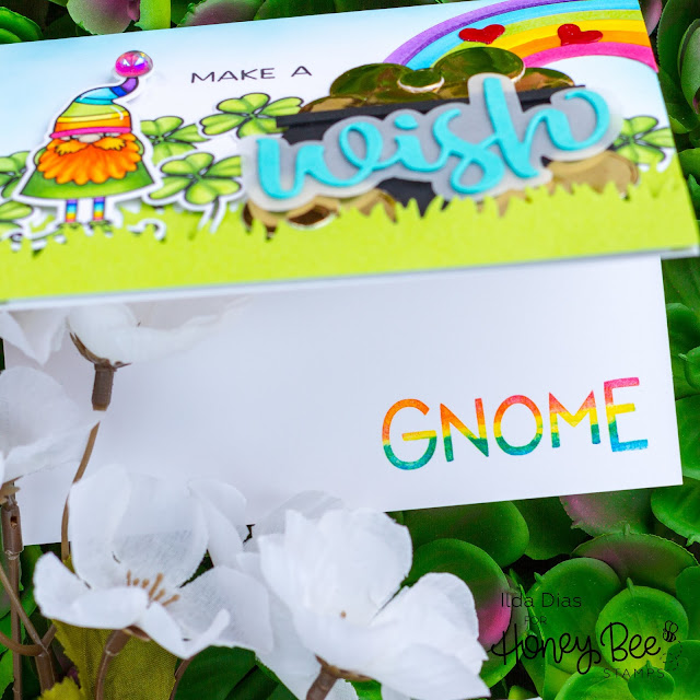 Make A Wish Gnomie | St. Patrick's Day Card | Honey Bee Stamps