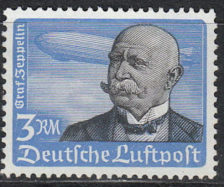 German Zeppelin stamp Ferdinand von Zeppelin