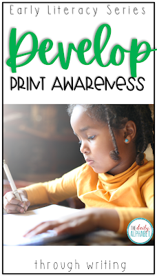 We know that students can develop print awareness through writing! Shared writing, guided writing and interactive writing all play an important part of an effective literacy program!