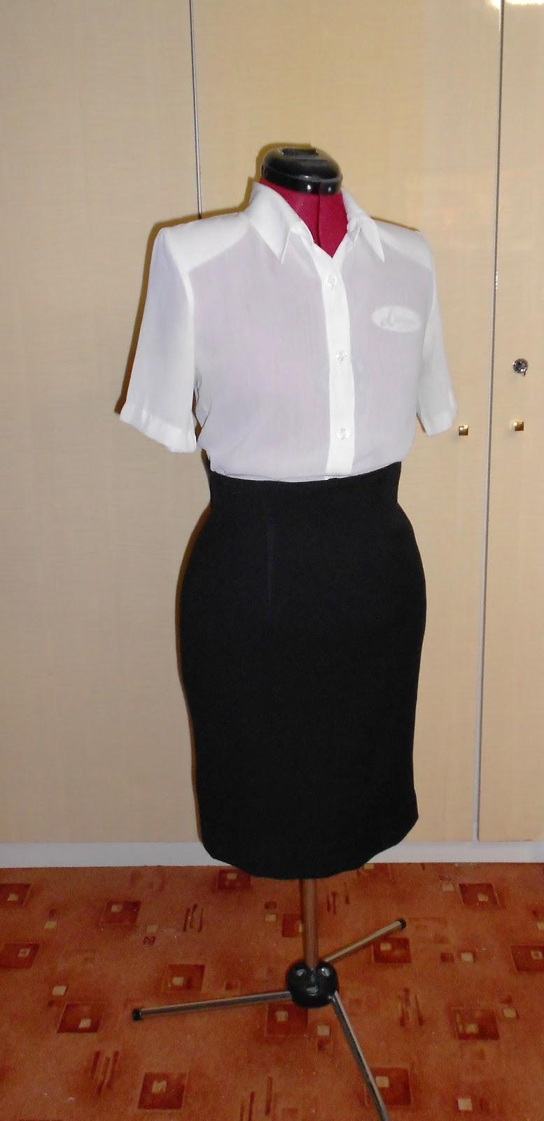 5f43d58e4 Cómo estrenar ropa vieja?: Falda negra en falda de talle alto