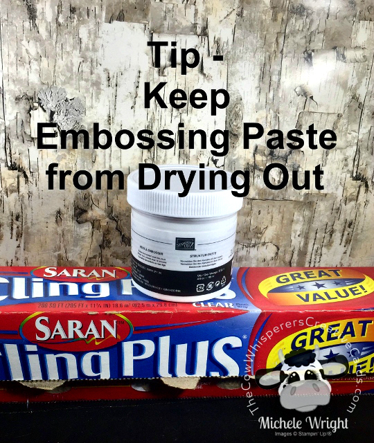 Tip, Embossing Paste, Cling Wrap, Moist Embossing Paste