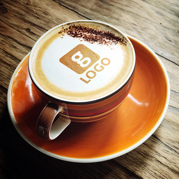 Cappuccino Mug Logo Mockup Free Logo Design Template