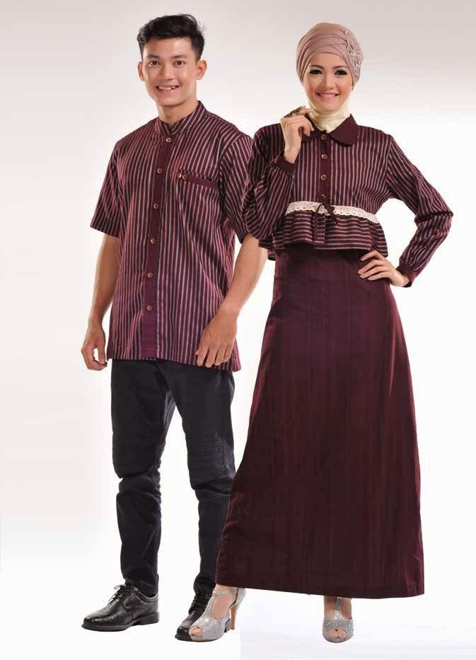 Model Baju Pesta Muslim Sarimbit Keluarga Terbaru