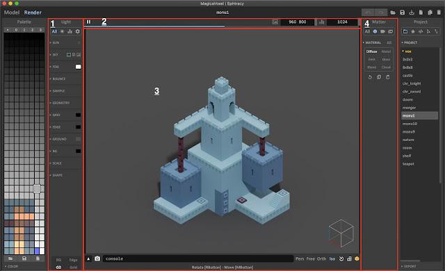 Render Mode in MagicaVoxel