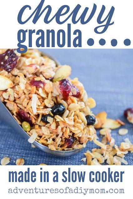 scoop of chewy granola