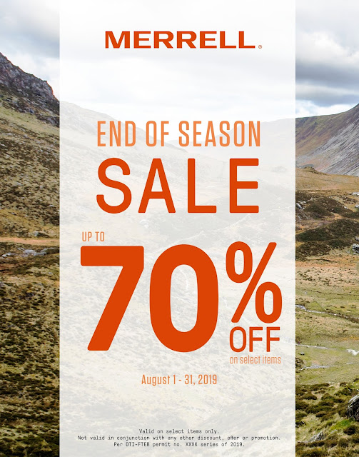 70% OFF on MERRELL for August 2019