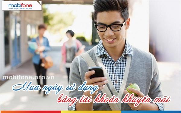 Cách mua ngày sử dụng Mobifone bằng tài khoản khuyến mãi