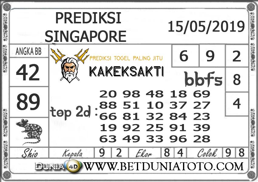 Prediksi Togel SINGAPORE DUNIA4D 15 MEI 2019